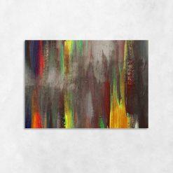 Kolorowe mazaje na obrazie