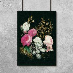 Plakat z pastelowymi różyczkami