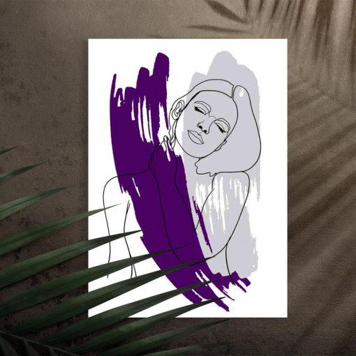 Plakat z kobietą na przedpokój