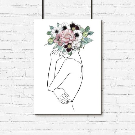 Plakat - Body line art do salonu