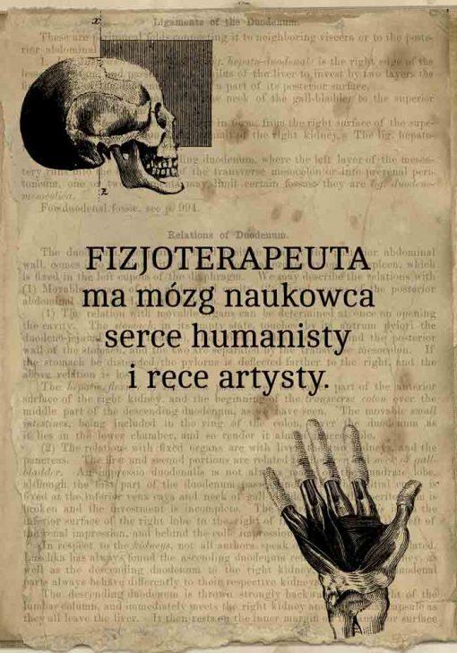 Plakat w stylu vaintage z typografią dla fizjoterapeuty