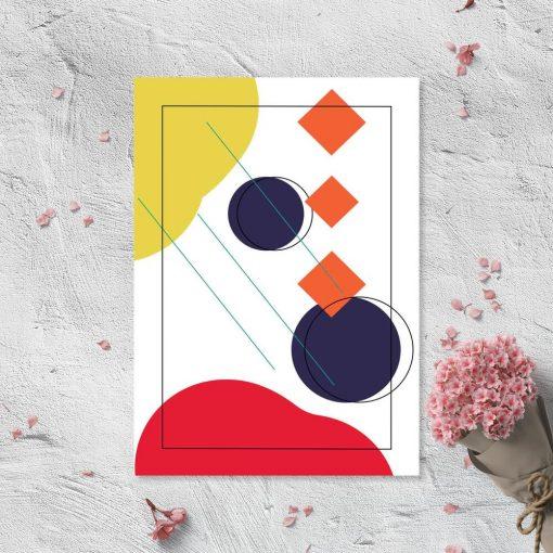 Symetryczny plakat w energetycznych barwach