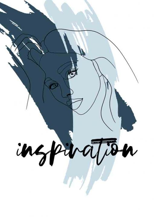 Plakat z napisem - Inspiration