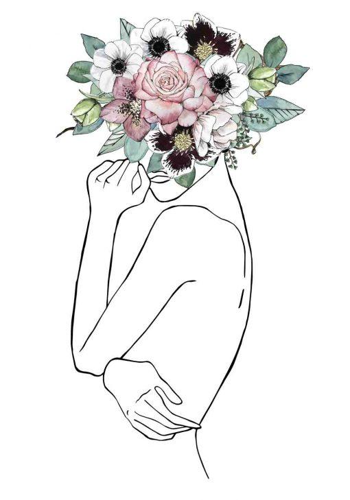 Plakat z body line art