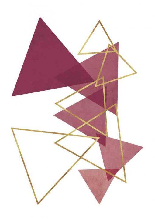 Plakat - Rozsypane trójkąty