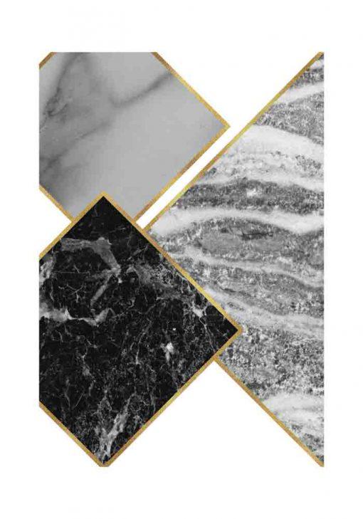 Plakat - Marmurkowe kwadraty