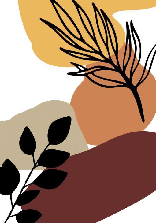 Nowoczesny plakat z liśćmi