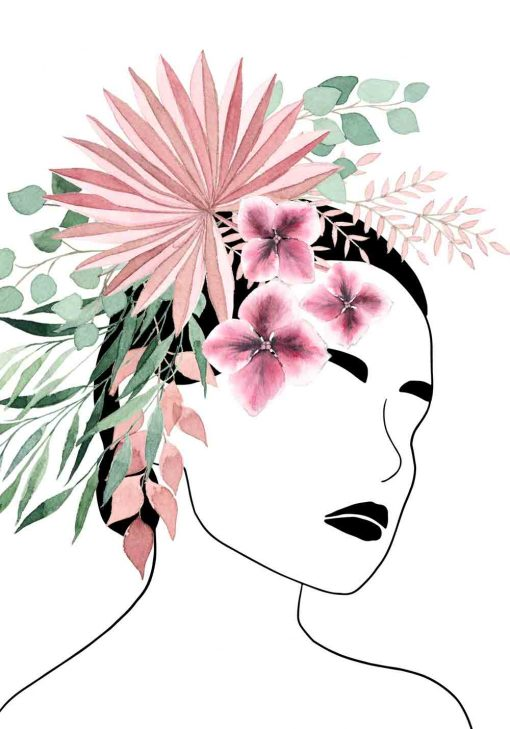 Plakat - Kwiaty we włosach