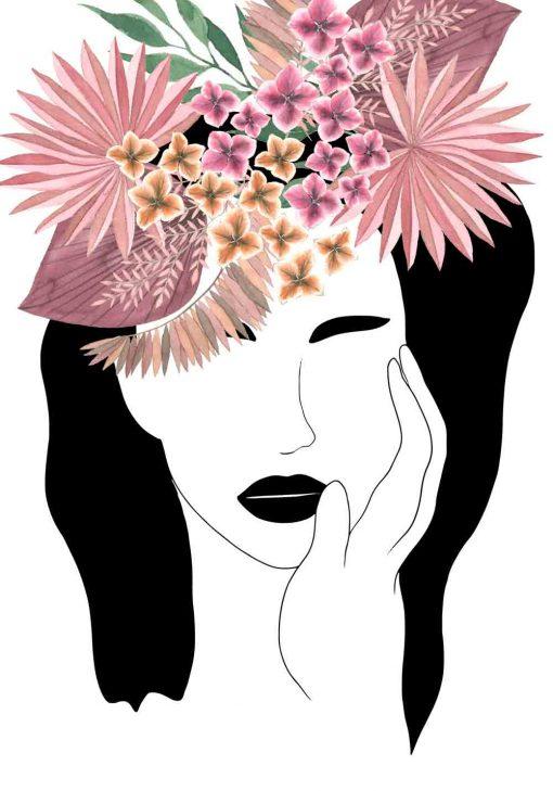 Plakat z egzotycznymi kwiatami