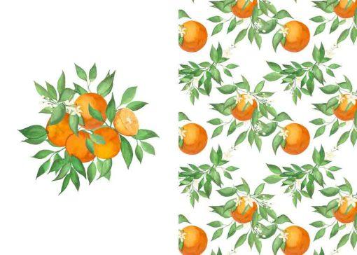 Plakat dyptyk z pomarańczami