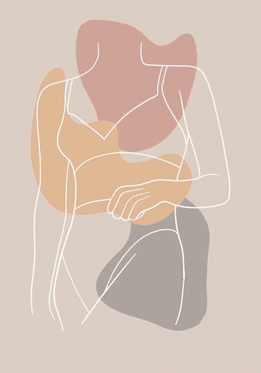 Plakat z sylwetką kobiety