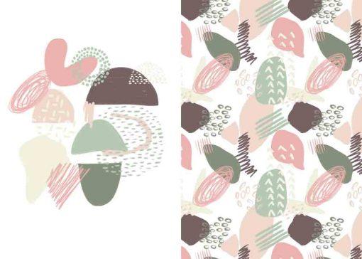 Plakat dyptyk z abstrakcyjnym wzorem