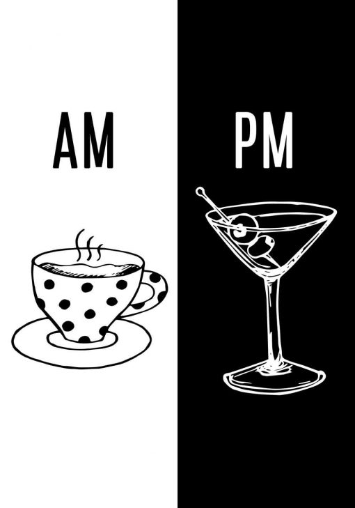 Plakat z kawą i drinkiem