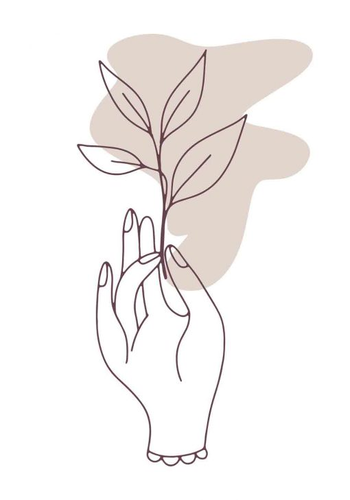Plakat - Dłoń trzymająca gałązkę
