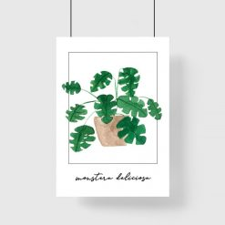 Plakat do salonu - Monstera deliciosa