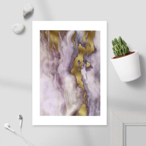 Plakat z marmurkową abstrakcją do biura