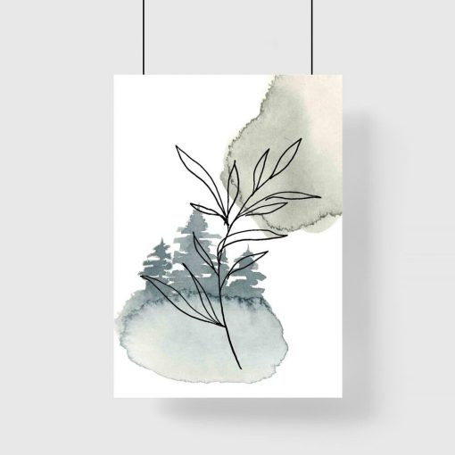 Plakat - Gałązka z liśćmi do salonu