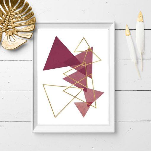 Plakat do sypialni - Rozsypane trójkąty