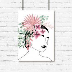 Plakat do salonu - Kwiaty we włosach