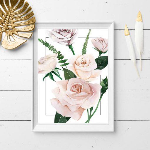 prezent na parapetówkę- plakat botaniczny