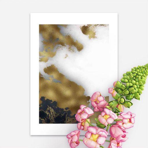 Plakat - Czarno-biała abstrakcja do salonu