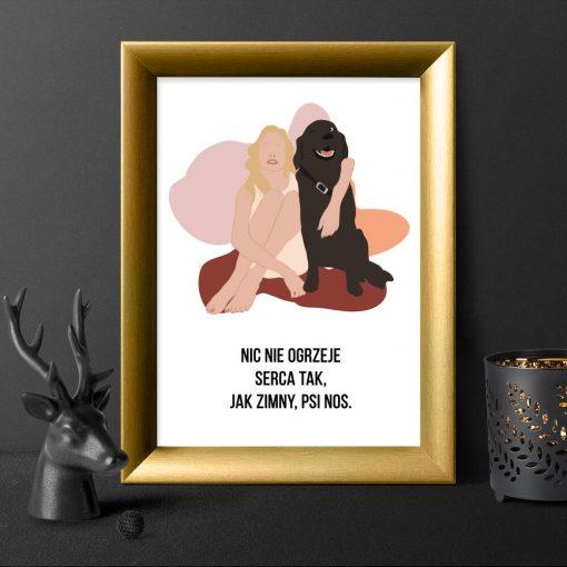 Plakat typograficzny o psie na prezent