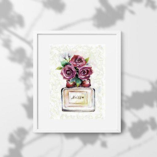 Plakat z kwiatami i napisem Miss