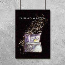 Plakat z torebką do salonu