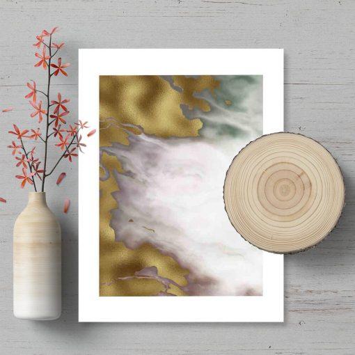 Plakat z abstrakcją z marmuru do pokoju