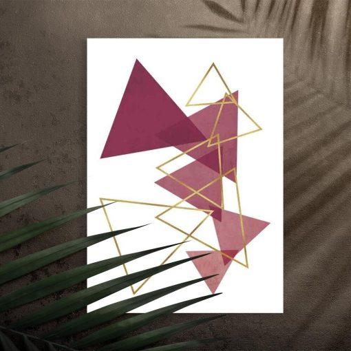 Plakat na przedpokój - Rozsypane trójkąty