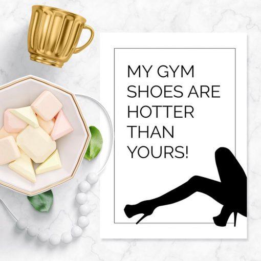 Plakat typograficzny - My gym shoes