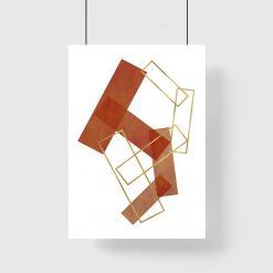 Plakat z prostokątami do salonu