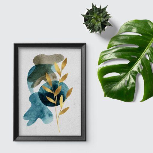 Plakat z motywem rośliny do pokoju