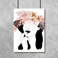 Plakat ze zmysłową kobietą do salonu