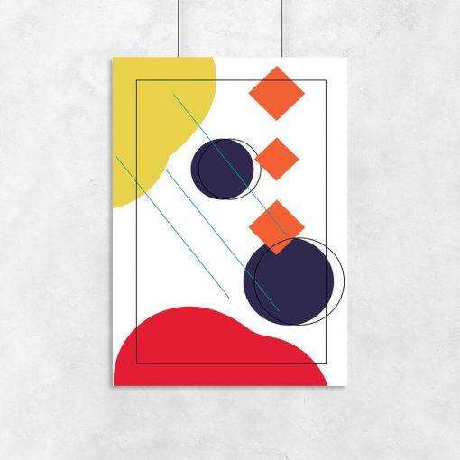 Kolorowy plakat z geometrią