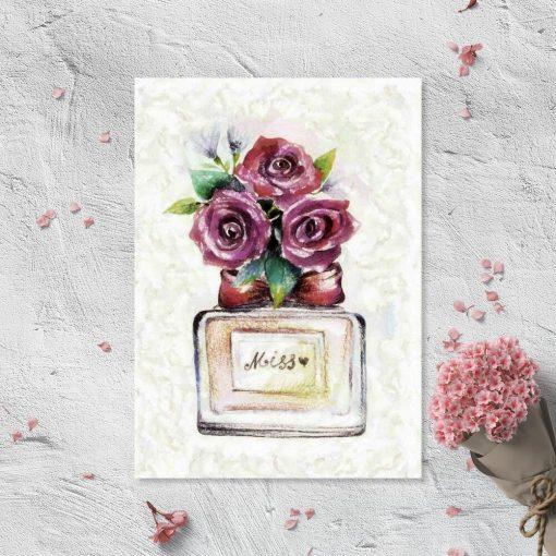Plakat z perfumami dla Miss