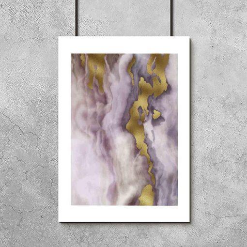 Plakat z marmurkową abstrakcją do salonu