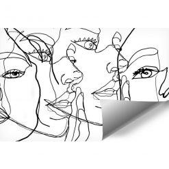 Fototapeta z twarzą kobiet do biura