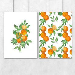Pomarańcze na plakacie do salonu