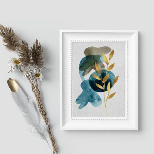 Plakat z motywem rośliny do biura