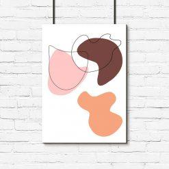 Abstrakcyjny plakat w plamy do salonu