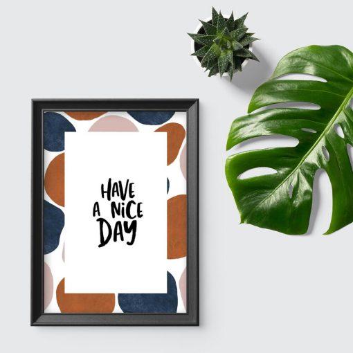 plakat w ramie- miłego dnia