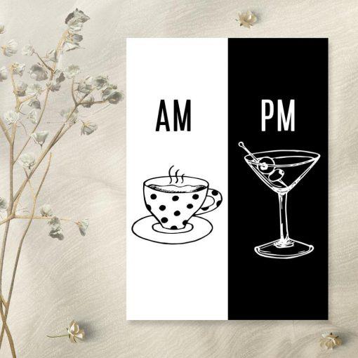 Plakat z kawą i drinkiem do salonu