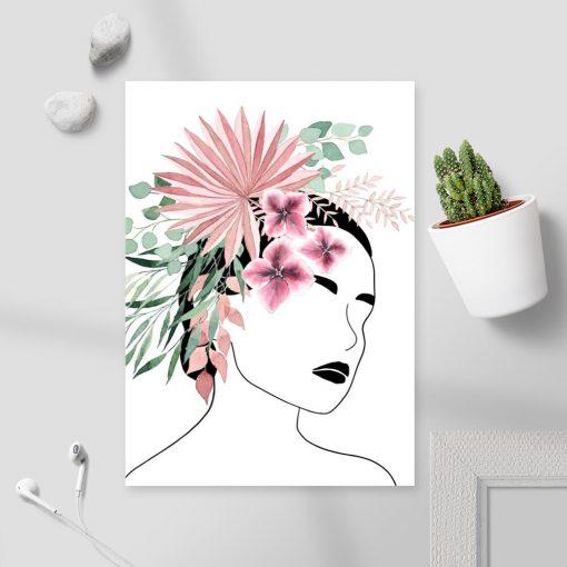 Plakat na prezent - Kwiaty we włosach