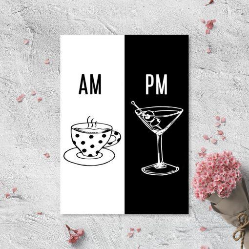 Plakat z kawą i drinkiem do kuchni