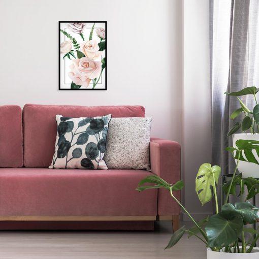 kwiatowy plakat z motywem zielonej roślinności