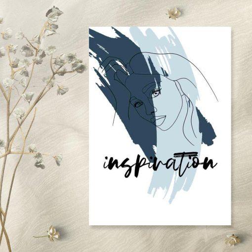 Plakat z motywem kobiety - Inspiration