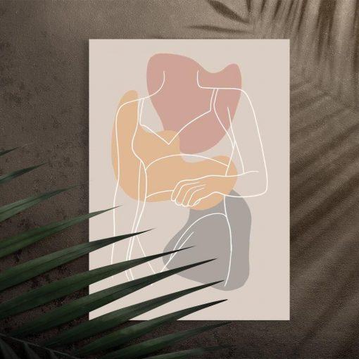 Plakat z sylwetką kobiety na prezent