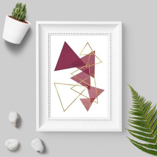 Plakat do biura - Rozsypane trójkąty