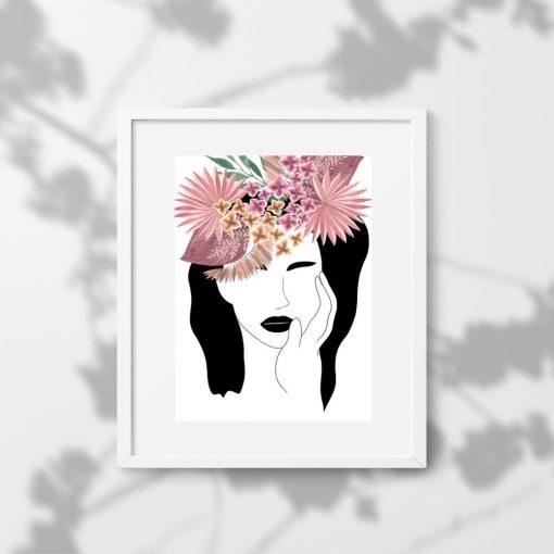 Plakat z egzotycznymi kwiatami do sypialni